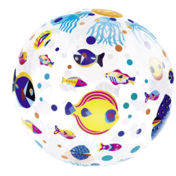ballon gonflable poissons